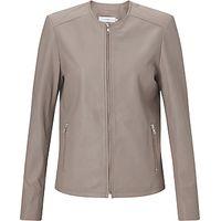 John Lewis Collarless Leather Jacket