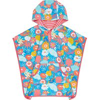 John Lewis Children's Tropical Towelling Swim Poncho, Multi