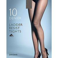 John Lewis 10 Denier Smooth Ladder Resist Tights, Pack of 1