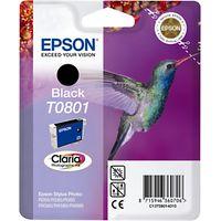 Epson Hummingbird T0801 Inkjet Cartridge, Black