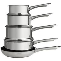 John Lewis Shine Saucepan Set, 5 Piece