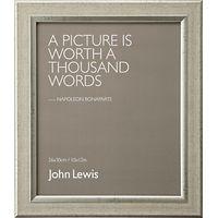 John Lewis Champagne Linen-Effect Frame, 10 x 12 (26 x 30cm)