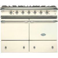 Lacanche Cluny LG1052GCT Dual Fuel Range Cooker, Ivory / Chrome Trim