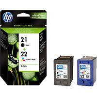 HP 21 Black and 22 Colour Inkjet Cartridges
