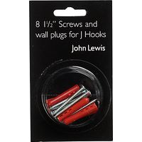 John Lewis Wallplugs and Screws, Pack of 8
