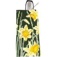 Cleopatras Needle Daffodils Glasses Case Tapestry Kit