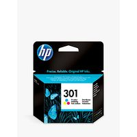 HP 301 Inkjet Cartridge, Tri-Colour, CH562EE