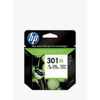 HP 301XL Inkjet Cartridge, Tri-Colour, CH562EE