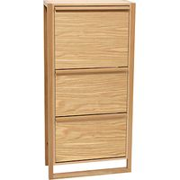 John Lewis Tall Shoe Storage Cabinet, Oak
