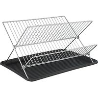 John Lewis X-Shaped Dish Drainer, Chrome