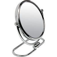 John Lewis 3x Magnification Folding Base Mirror, Chrome