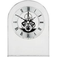 Dartington Crystal Curve Clock, Clear
