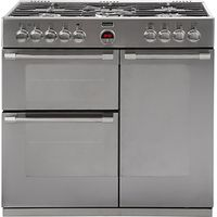 Stoves Sterling 900DFT Dual Fuel Range Cooker, Stainless Steel