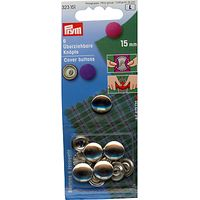 Prym Metal Cover Buttons, 15mm, Pack of 6