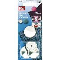 Prym Metal Cover Buttons, 29mm, Pack of 3
