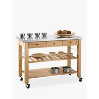 Eddingtons Lambourn 3 Drawer Butchers Trolley with Stainless Steel Top