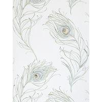 Prestigious Textiles Peacock Wallpaper, Seagrass, 1938/390
