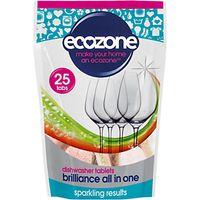 Ecozone Dishwasher 5 in 1 Tab, Pack of 25