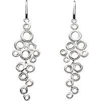 Kit Heath Coil Cluster Drop Earrings, Silver