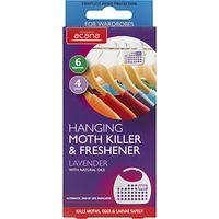 Acana Hanging Moth Killer and Wardrobe Freshener, Pack of 4
