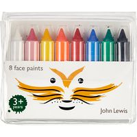 John Lewis Face Crayons, Pack of 8