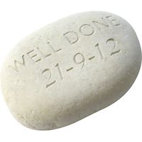 Personalised Well Done Sentiment Stone