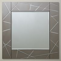 John Lewis Smoke Engraved Mirror, 50 x 50cm