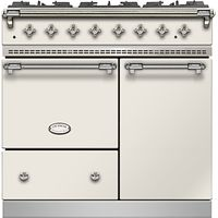 Lacanche Beaune LG962GCTDIVCHA Dual Fuel Range Cooker, Ivory / Chrome Trim