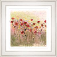 Sue Fenlon - Poppies In The Rain Framed Print, 68 x 68cm