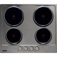Zanussi ZEE6940FXA, Sealed Plate Electric Hob, 60cm Wide, Stainless Steel
