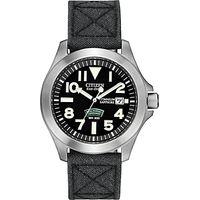 Citizen BN0110-06E Mens Royal Marines Commando Super Tough Fabric Strap Watch, Black