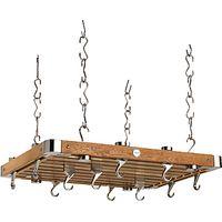 Hahn Premium Medium Rectangular Ceiling Rack, Oak