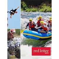 Red Letter Days Perfect Thrill Seekers for 1- 3 People