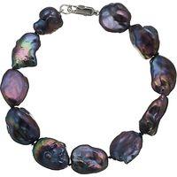 A B Davis Keshi River Pearl Bracelet, Black