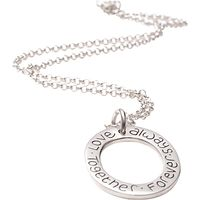 FingerPrint Jewellery Oval Cluster Ring Necklace, Silver