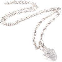 FingerPrint Jewellery Single Handprint Charm Necklace, Silver