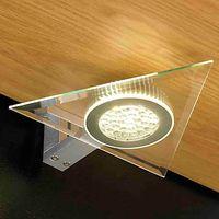 John Lewis Aura LED Triangular Glass Lights, 2 Pack
