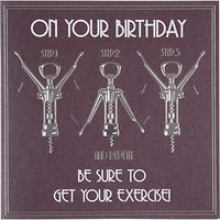 Five Dollar Shake Be Sure to Get Your Exercise Birthday Card