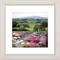 Debbie Neill - Heather Hill Framed Print, 57 x 57cm