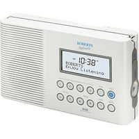 ROBERTS SPLASH! DAB/FM Shower Radio, White