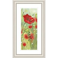 Catherine Stephenson - Red Poppy Dawn Framed Print, 90.5 x 50.5cm