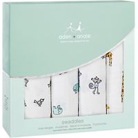 Aden + Anais Swaddle Baby Blankets, Pack of 4, Jungle Jam