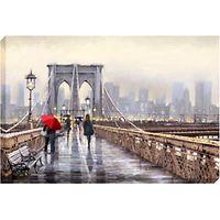 Richard Macneil - Brooklyn Bridge Print on Canvas, 70 x 100cm