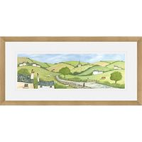 Janice Mcgloine - Country Lane Framed Print, 52 x 107cm