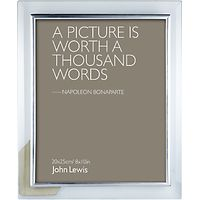 John Lewis Glass Metal Border Photo Frame, 8 x 10 (20 x 25cm)