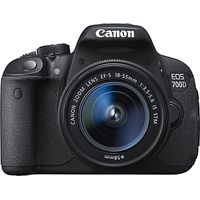 Canon EOS 700D Digital SLR Camera with 18-55mm STM & 55-250mm Lenses, HD 1080p, 18MP, 3 LCD Touch Screen