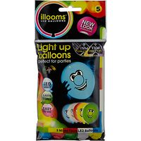 Illoom LED Balloons Faces, Pack of 5