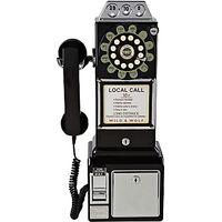 Wild & Wolf 1950s Diner Phone, Black