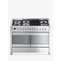 Smeg A4-8 Dual Fuel Range Cooker, Stainless Steel