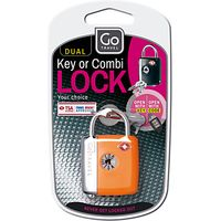 Go Travel 337 TSA Dual Combi and Key Padlock, Assorted Colours